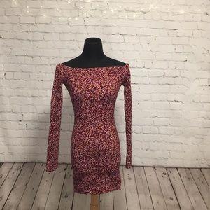Bodycon, long sleeved mini dress